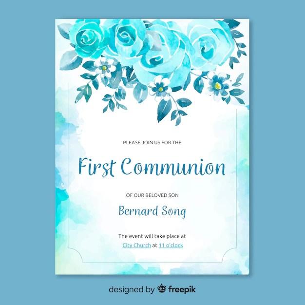 first communion invitation template