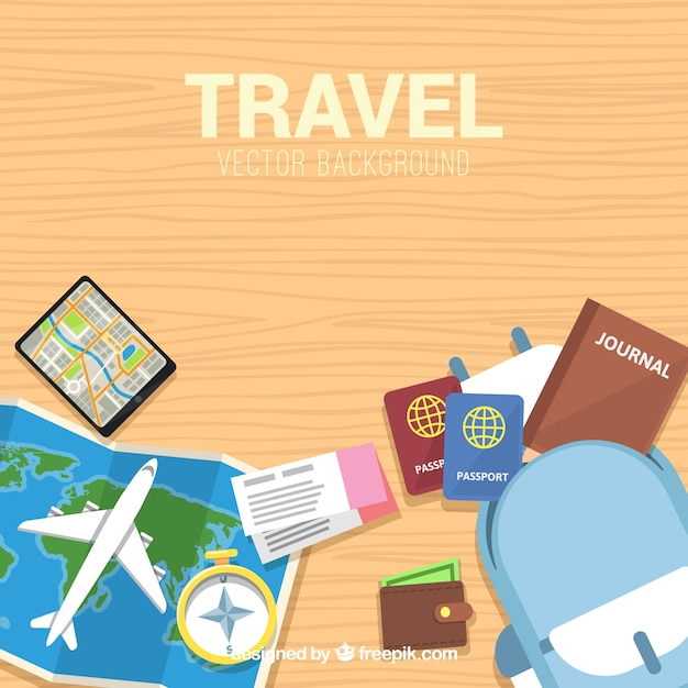 Free Vector Flat Design Modern Travel Background