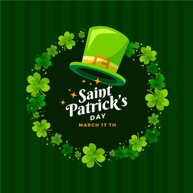 Flat design st. patrick's day hat Free Vector