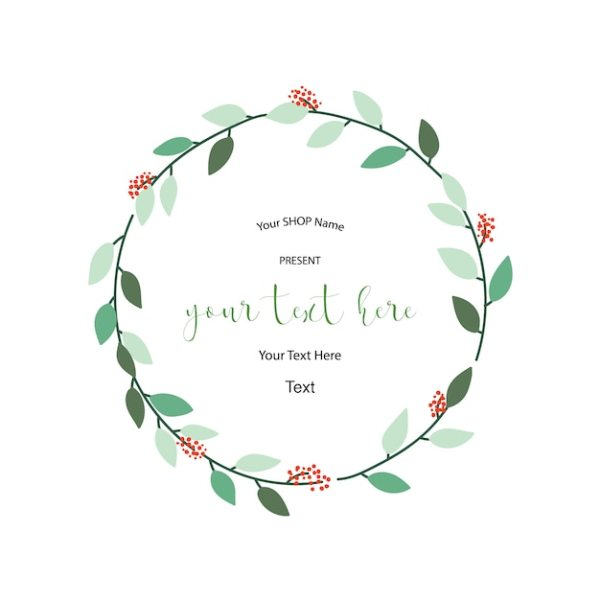 wreath template # 45
