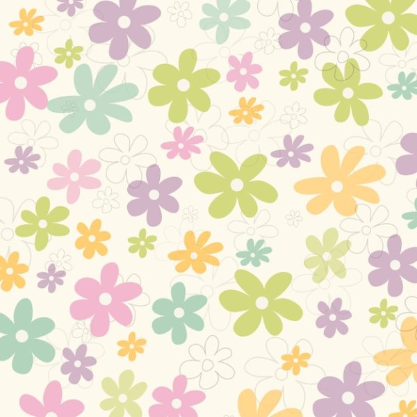 Flowers pattern background Vector Free Download