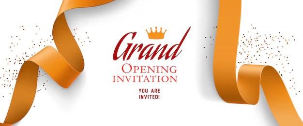 free vector grand opening invitation
