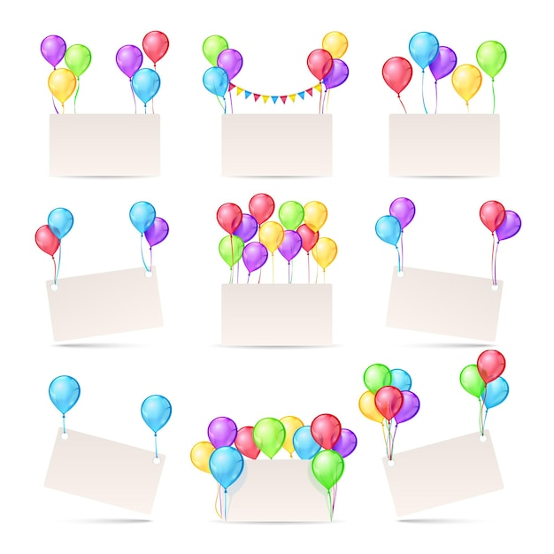 blank banners for birthday invitation