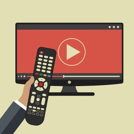 Hand holding remote control Free Vector