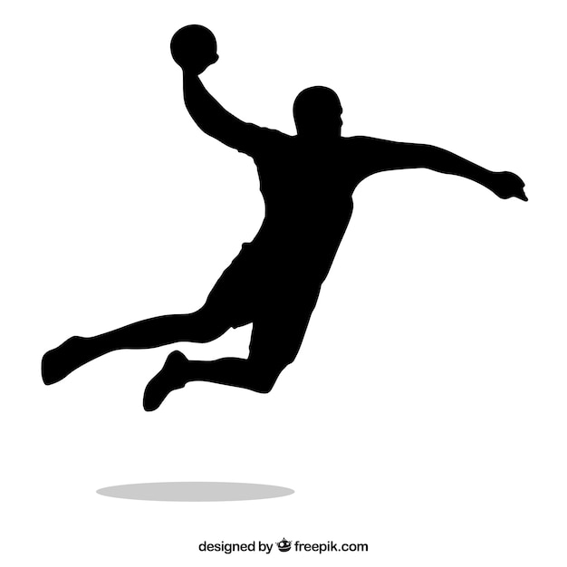 free vector handball player silhouette