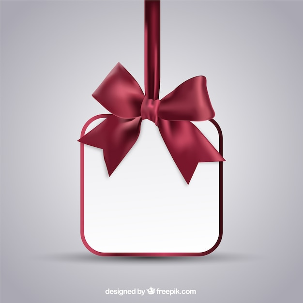 Hanging Card With Bow Vector Free Download
