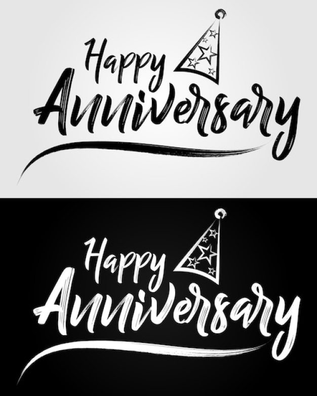 Happy Anniversary Hand Drawn Lettering