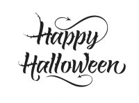 happy halloween text font