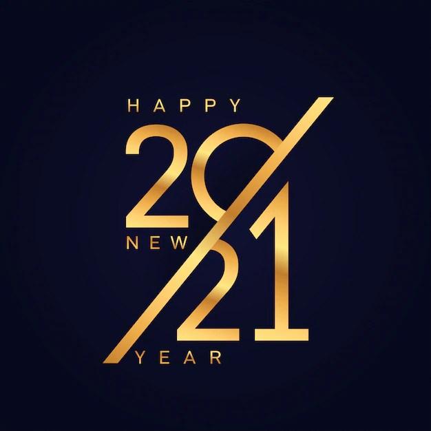 happy new 2021 year background  premium vector