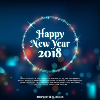 Happy new year background with bokeh effect Vector   Free Download Happy new year background with bokeh effect Free Vector