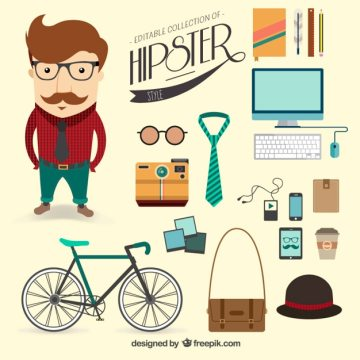 Hipster style Free Vector