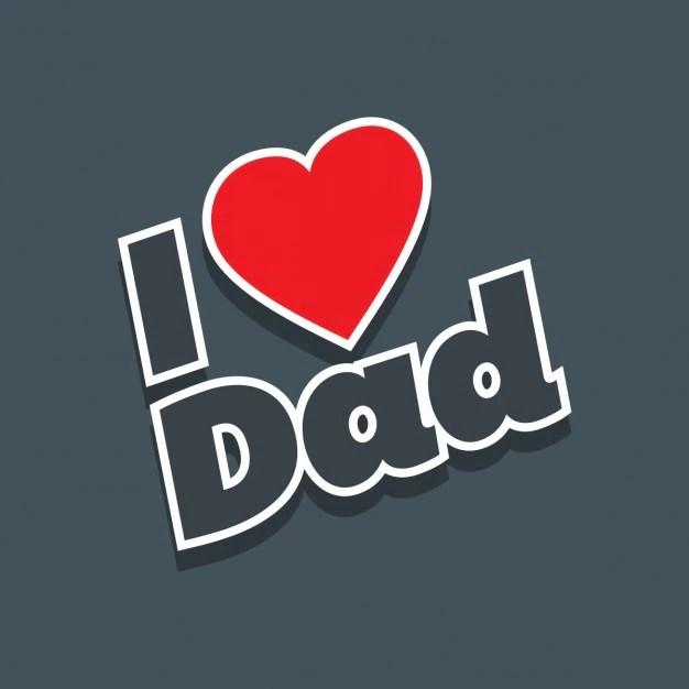 "Download Free Vector | ""i love dad"" grey background"