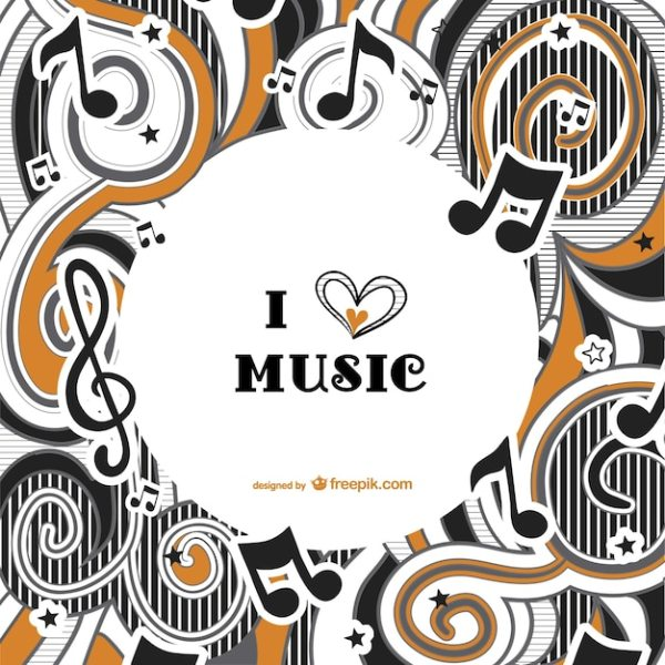 I love music background vector Vector | Free Download