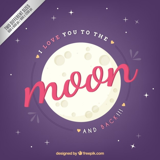 Download I love you to the moon and back background Vector   Free ...