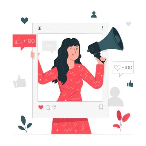 Influencer concept illustration Free Vector Influencer