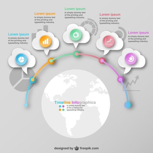 Infographic global design options template Vector | Free ...