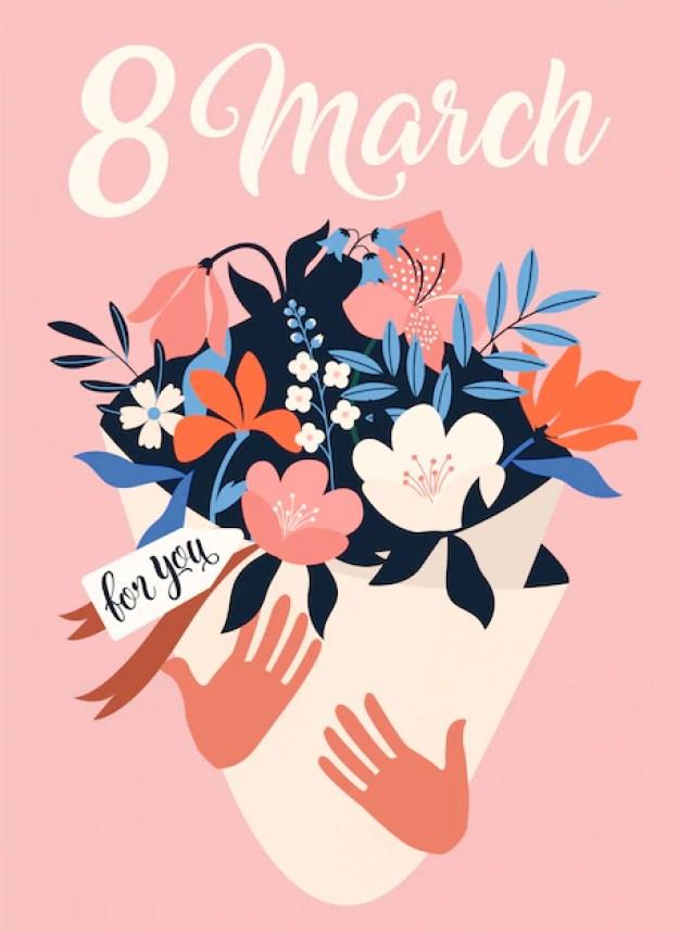 International womens day. 8 march. Premium Vector