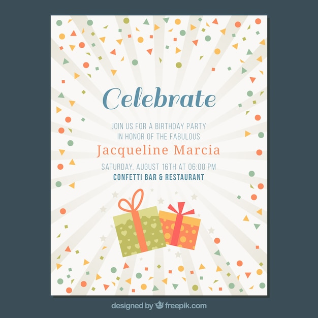 free vector invitation card with