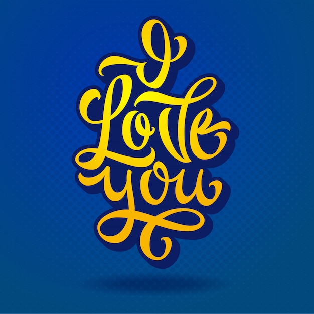 Download Lettering i love you for confessions of love ...