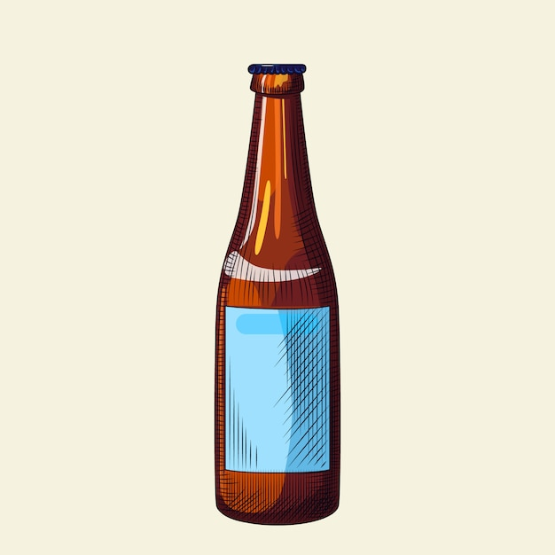 Download Llight beer bottle isolated on light background. hand ...