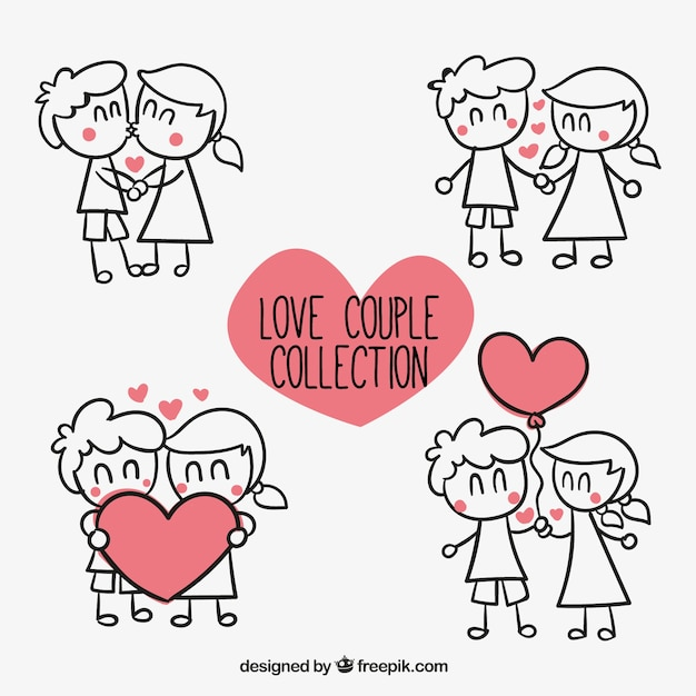 Download Love couple collection Vector   Free Download