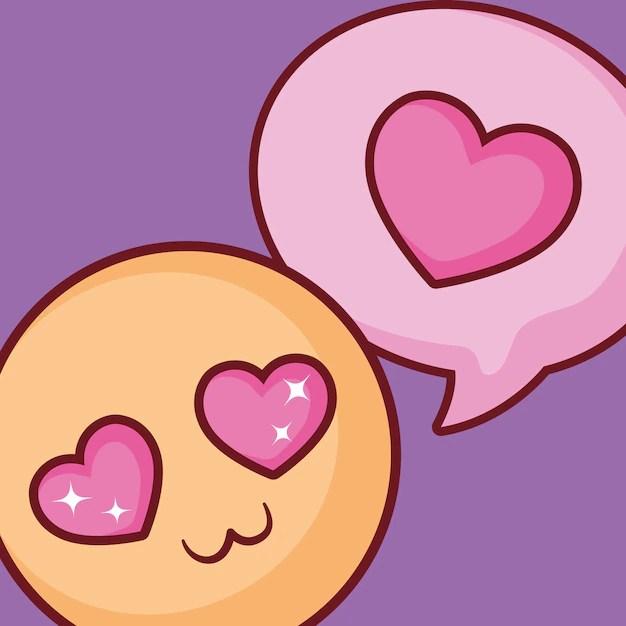 Download In love emoji design   Premium Vector