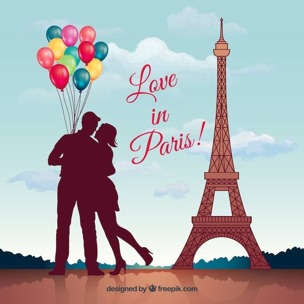 Love In Paris Vector Free Download