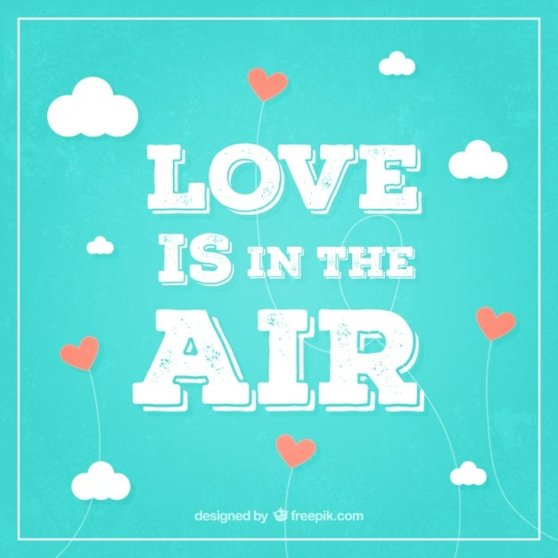 Download Love is in the air background in retro style Vector   Free ...