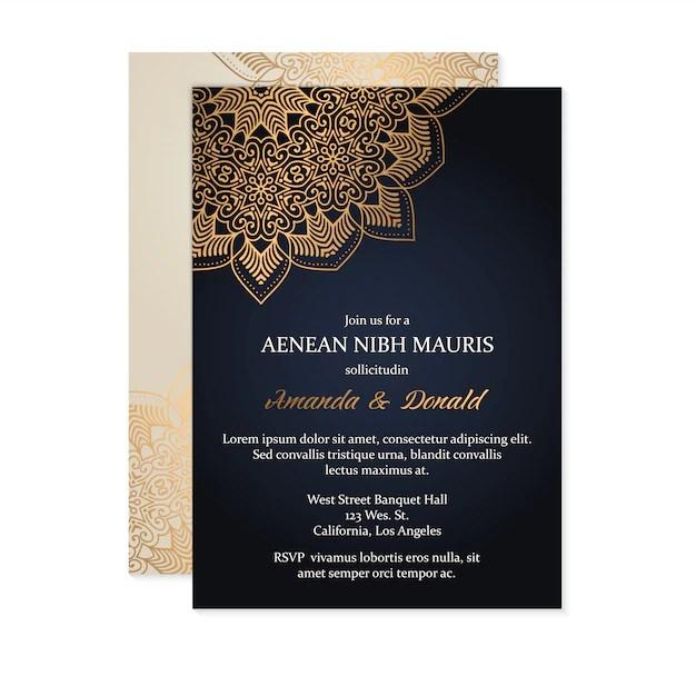luxury wedding invitation card template