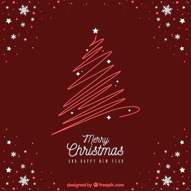 Modern red christmas design Free Vector