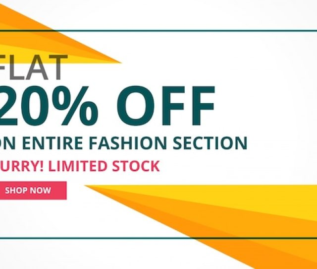 Modern Sale Banner Design With Geometric Shapes Free Vector