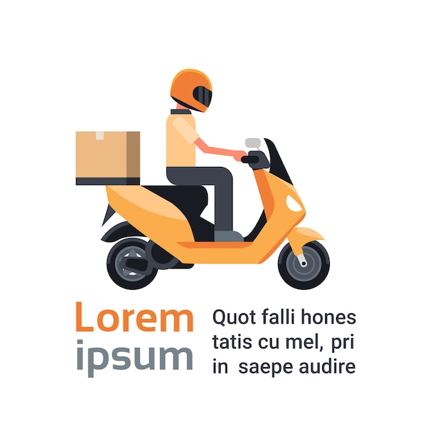 Delivery scooter vector mockup on white for vehicle branding,. Delivery Motorcycle Mockup Free