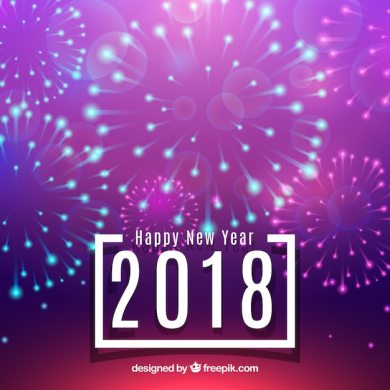 New year background with bright fireworks Vector   Free Download New year background with bright fireworks Free Vector