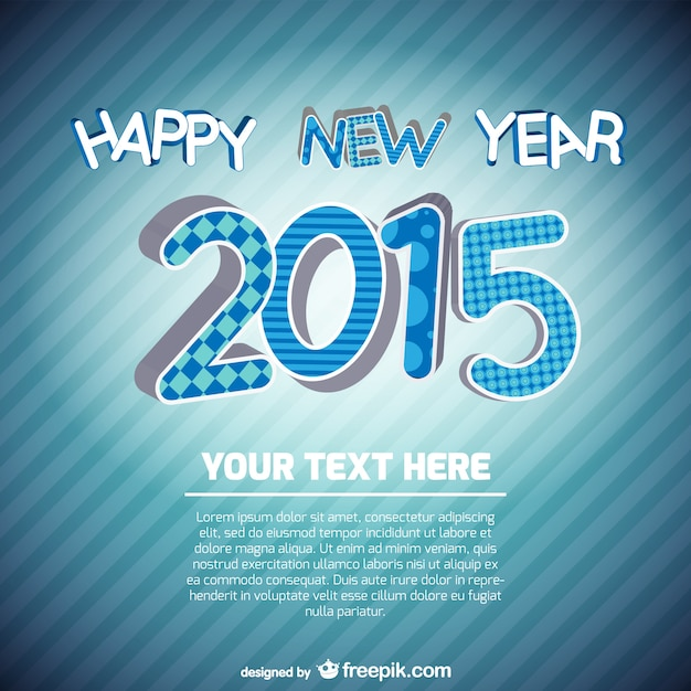 new year card template photoshop