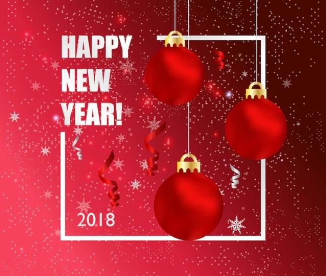 New Years Greeting Card Premium Vector