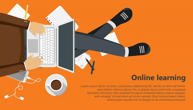 Online learning Vector | Free Download