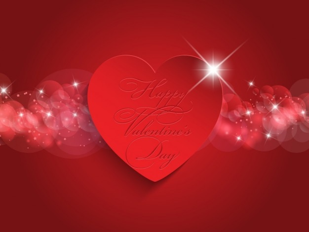Red Heart Background With A Glowing Band Vector