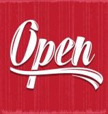 Download free Retro open sign vector | Freepik