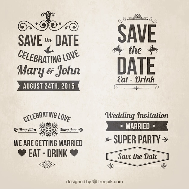 Romantic Retro Orchard Wedding Invitation