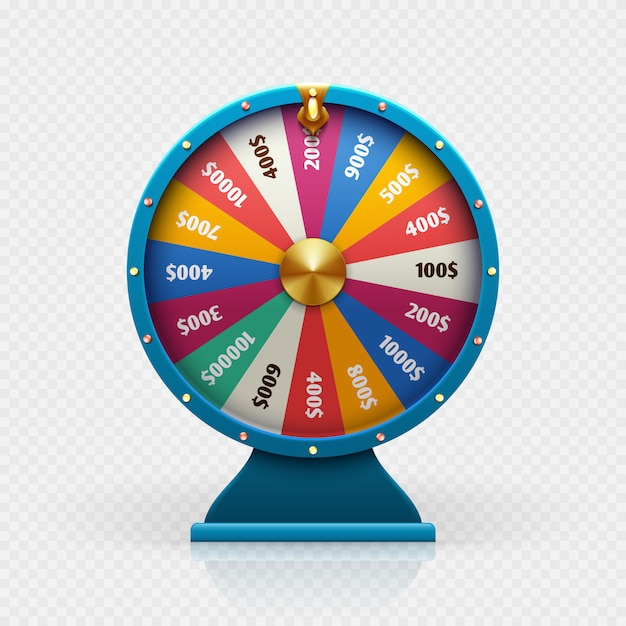 Roulette 3d fortune wheel isolated vector illustration for ...