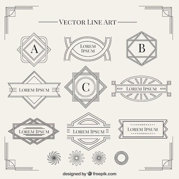 Bold Art Deco Ornament Vector Pack