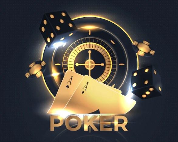 Premium Vector | Shining casino poker banner