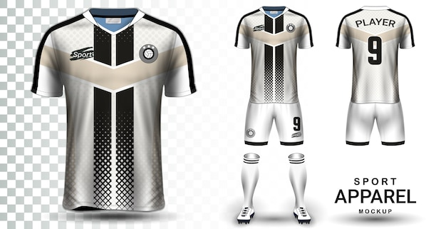 Download Soccer jersey and football kit presentation mockup ...