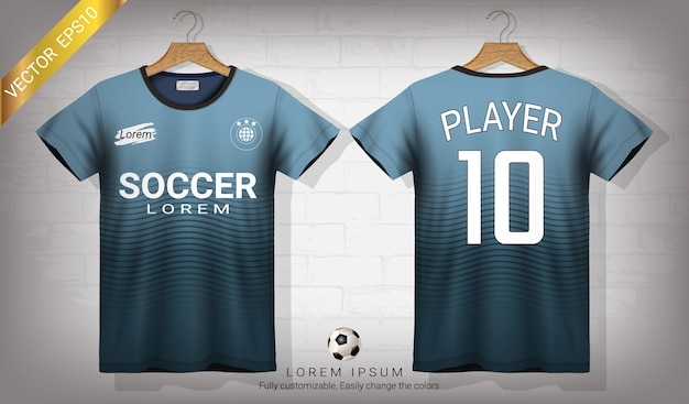 Download Soccer jersey and t-shirt sport mockup template Vector ...