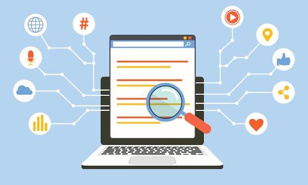 Premium Vector | Social media algorithm, digital technology, computer  programming vector concep