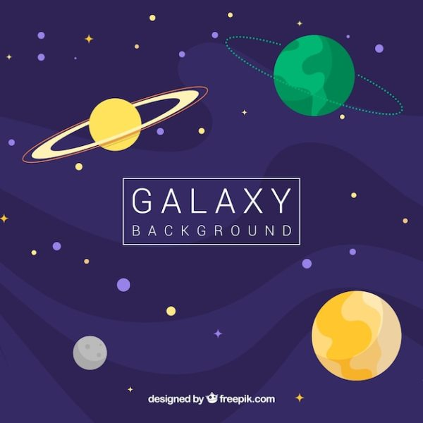 Space background with stars and planets Vector | Free Download