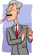 Premium Vector   Speaking with forked tongue cartoon