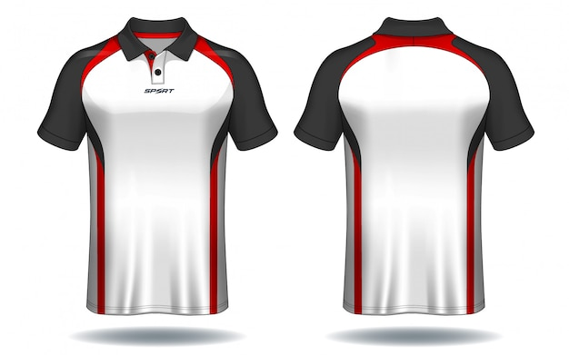 T Shirt Polo Design Sport Jersey Template Vector Premium Download