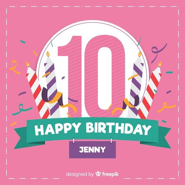tenth birthday party invitation card