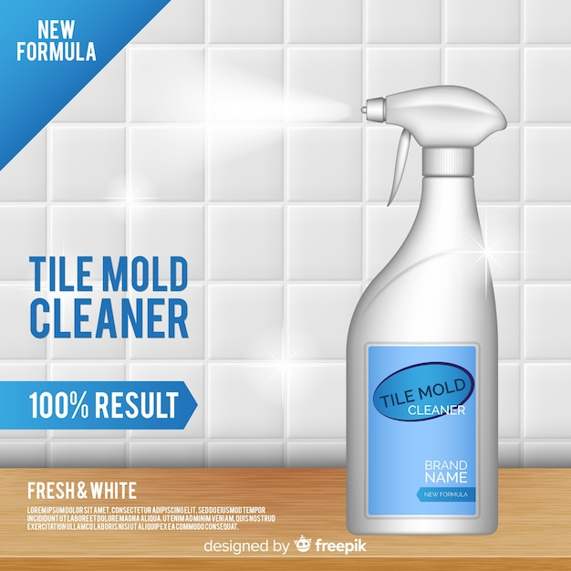 tile mold cleaner advertisement background